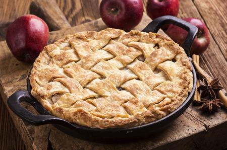 pastel de manzana: pastel de manzana Foto de archivo