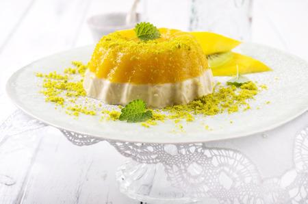 gelatina: gelatina de mango Foto de archivo