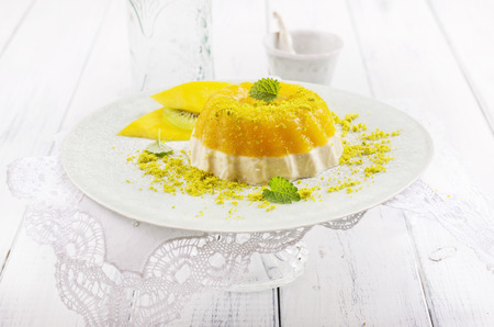 gelatine: mango gelatin Stock Photo