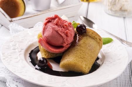 rhum: desert baba au rhum with ice