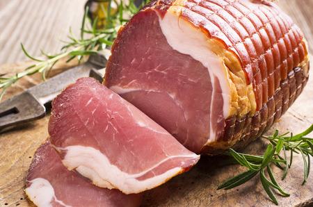 cured ham: prosciutto