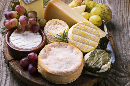 rind: cheese plate Stock Photo