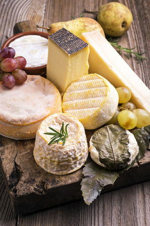 abbaye: cheese plate Stock Photo