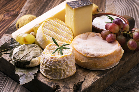munster: cheese plate Stock Photo