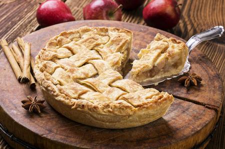 pie de manzana: pastel de manzana Foto de archivo