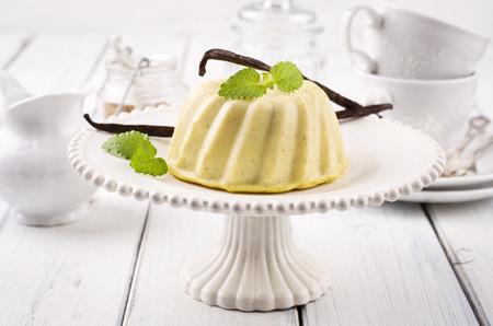 nostalgy: vanilla pudding Stock Photo