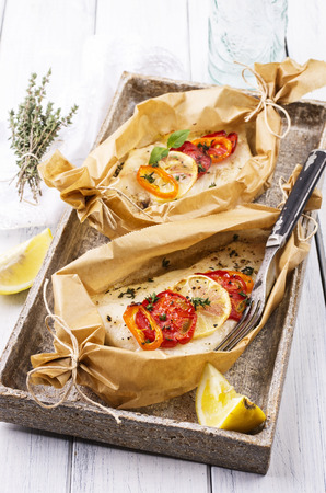 oven baked fish photo