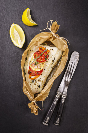 filete de pescado: filete de pescado al horno