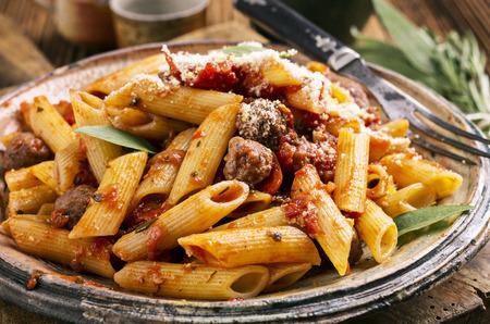 italian sausage: pasta with italian sausage
