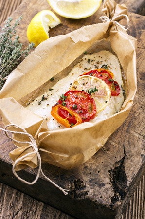 grates: baked fish