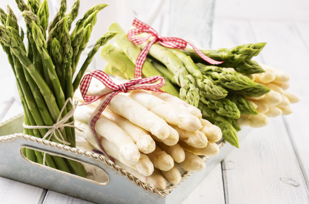 nostalgy: asparagus white and green