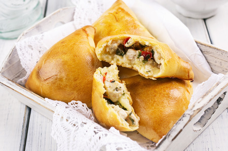 pastry samosa with chicken