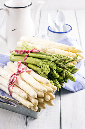 asparagus white and green photo
