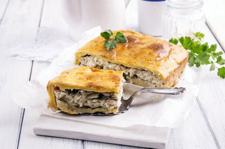 traditionally russian: fish pie