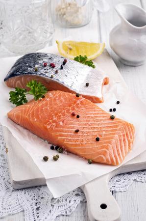 salmon fillets photo