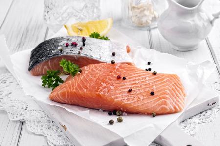 rosmarin: salmon fillets