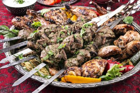 lamb kebab  photo