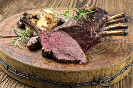 rack of lamb: venison carree Stock Photo