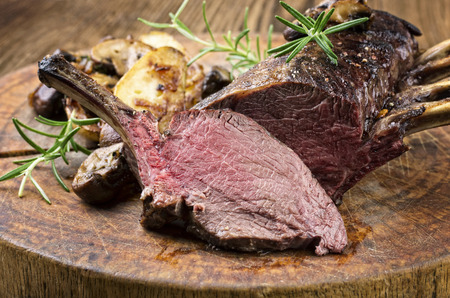 venison carree Stock Photo