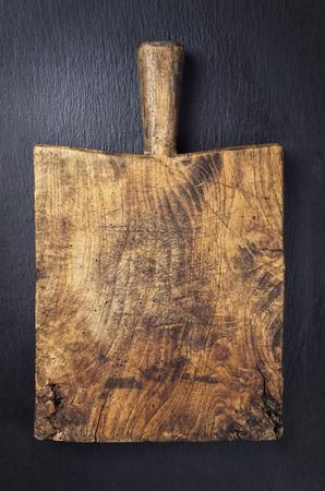 effloresce: vintage cutting board Stock Photo