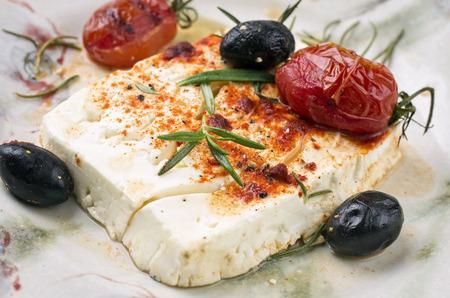 manjar: queso feta al horno