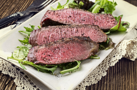 prime rib: grilled beef steak Stock Photo