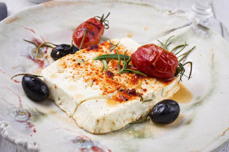 diat product: feta baked with herbs