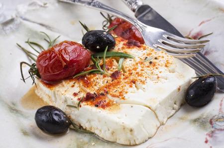 queso de cabra: queso feta al horno