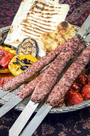kabab: kabab koobideh Stock Photo