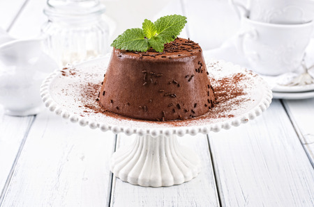 chocolate pudding Stock Photo