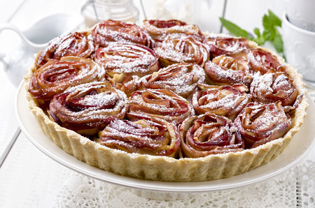 french apple tarte photo