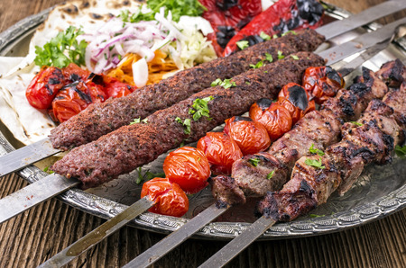 grilled kebab Stock Photo - 32445224