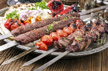 grilled kebab with koobideh 版權商用圖片