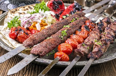 grilled shashyk and koobideh photo