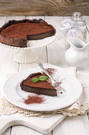 short crust pastry: chocolate tarte