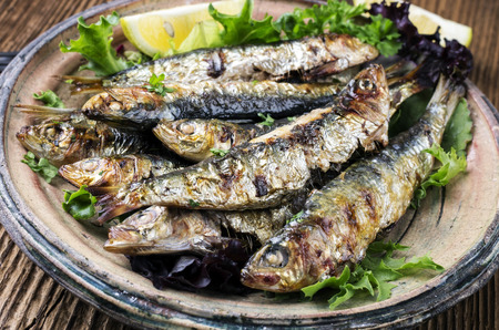 european anchovy: grilled sardines