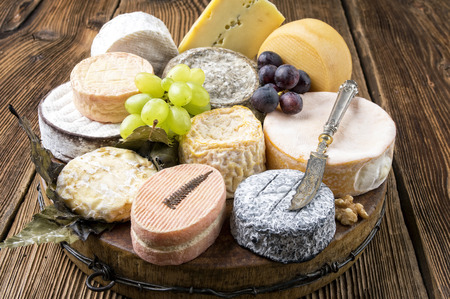 cheese plate: cheese plate Stock Photo