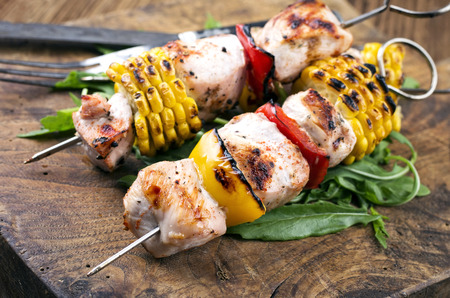 mais: grilled chicken skewer