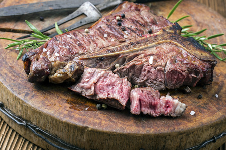 t bone: grilled steak