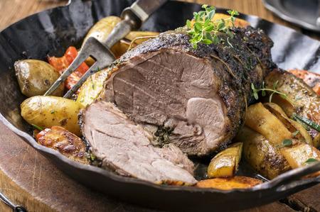 Lamb Roast in Pan photo