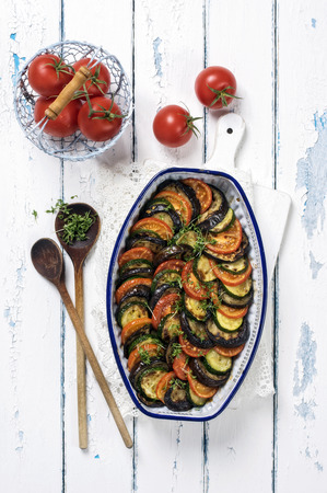 serviette: Ratatouille in Casserolle