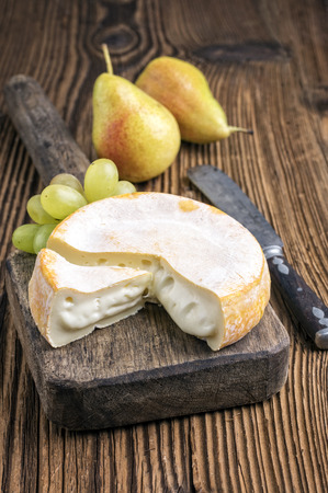 delikatesse: french soft cheese Stock Photo