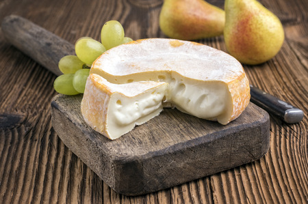 cheese plate: french soft cheese Stock Photo