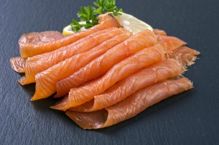 salmone affumicato Archivio Fotografico