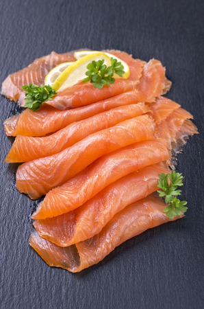 isoliert: smoked salmon