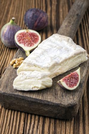 delikatesse: brie cheese Stock Photo
