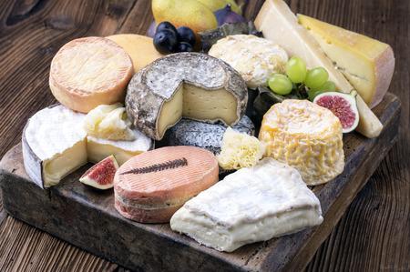 delikatesse: cheese plate Stock Photo