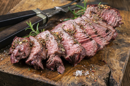 Grilled Steak Slices