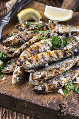 european anchovy: Grilled Anchovies