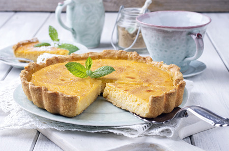 french lemon pastry tarte au citron 版權商用圖片